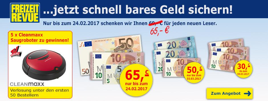 FREIZEIT REVUE Leser werben + 65€ Verrechnungsscheck sichern!