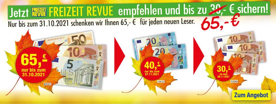 FREIZEIT REVUE Countdown 65 € sichern!