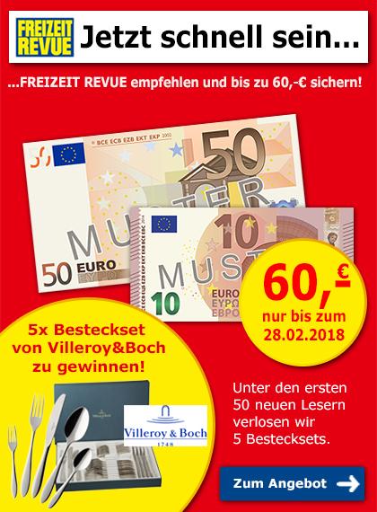 Freizeitrevue empfehlen + bis zu 60 € sichern!