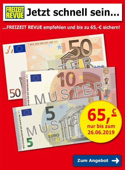 FREIZEIT REVUE empfehlen + 65€ sichern!