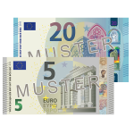 25 € Verrechungsscheck