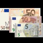 65 € Verrechnungsscheck