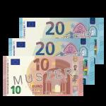 50 € Verrechnungsscheck