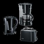 "Severin Frühstücksset ""Kaffeemaschine, Wasserkocher & Toaster"""